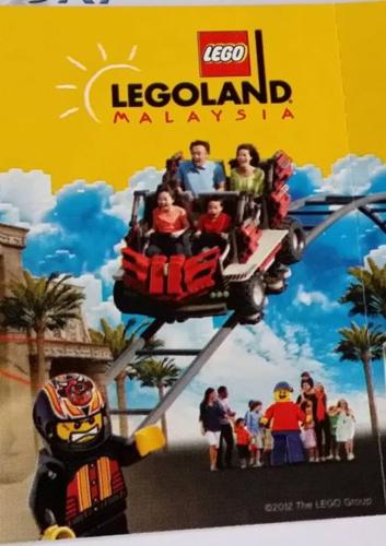 Lego Land Malaysia 4 adult/Child Tickets Theme Park