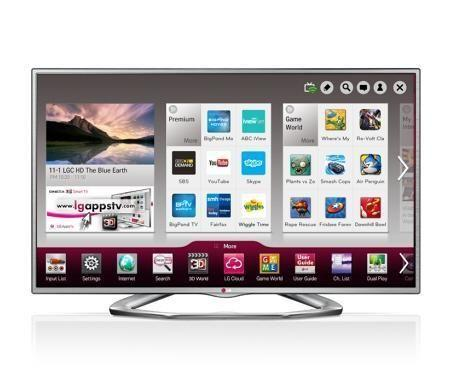 LG 55 inches 3D LED TV with 4 glasses