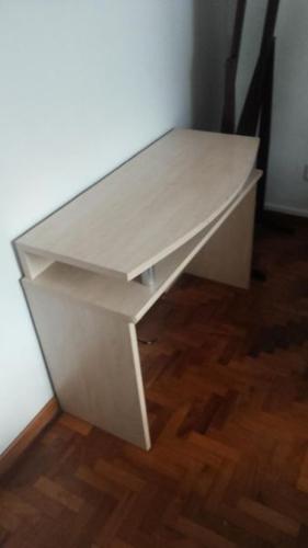 Light Beech Desk and cupboard