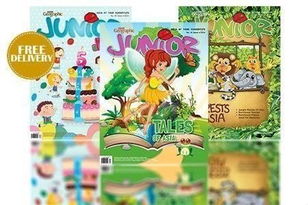 LIKE NEW Asian Geographic JUNIOR Magazine with stickers