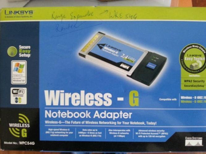 Linksys WPC54G Wireless-G Notebook Adapter Notebook