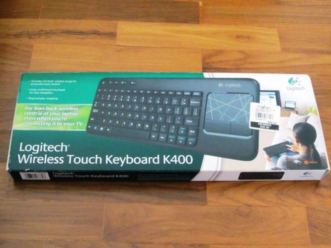 Logitech Wireless Touch Keyboard K400 with touchpad