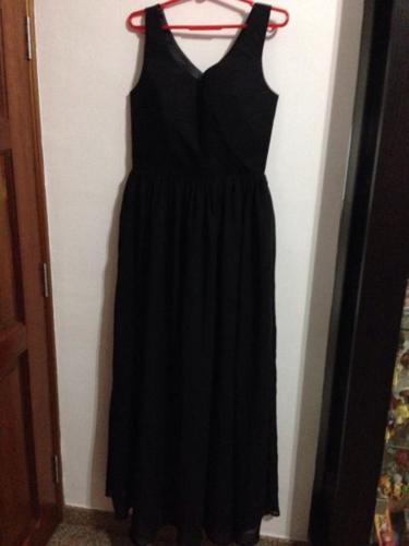Long evening gown / dress (black color)