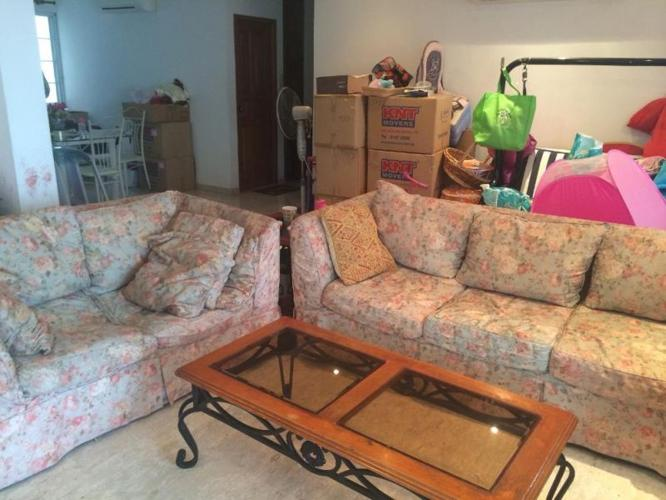 Lovely Picket & Rail Sofa Set (3+2) with coffee table
