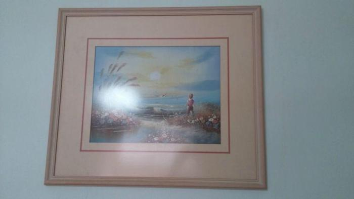 LOWEST PRICE IN TOWN: FRAMED PICTURE OF BOY FISHING BY