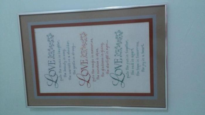 LOWEST PRICE IN TOWN FOR CANVAS HANDWORK LOVE POEM