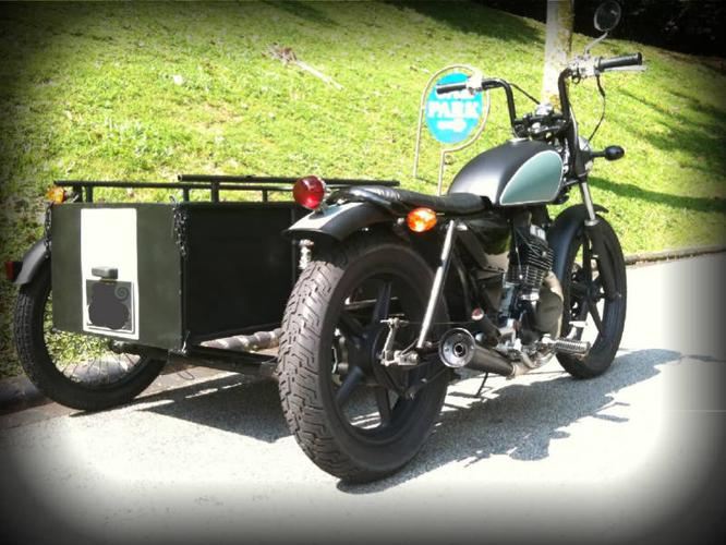 LTA approved custom motorcycle with passenger sidecar