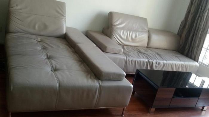 Luxurious Genuine Leather L-Shape Sofa branded
