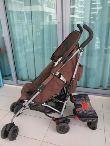 Maclaren Ryder Stroller with Lascal Maxi Board and Rain