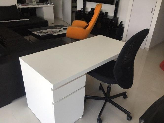 MALM Desk (white) And FLINTAN Swivel Chair (black), IKEA For Sale In Tiong  Bahru Road, Central Singapore Classified | SingaporeListed.com