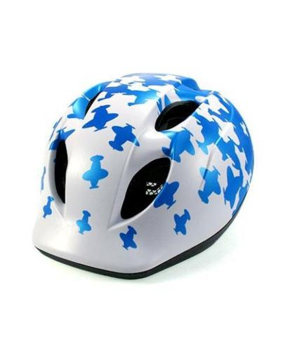 MET Super Buddy White/Blue Airplanes Kids Helmet