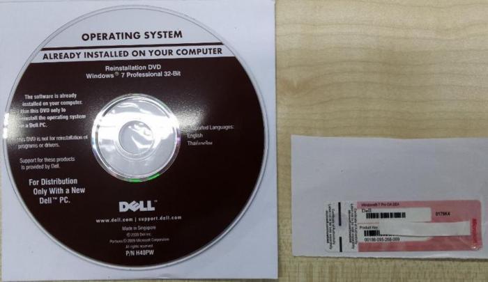 Microsoft Windows 7 Professional 32-Bit Reinstallation