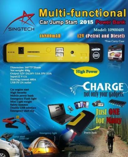 Mini Multi Function Car Jumpstart Kit w/ Mini Air