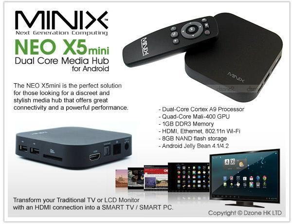 MINIX NEO X5 Mini with latest 4.2 patch/Air Mouse/3 yr