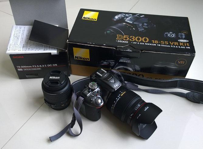 Mint Nikon D5300 and 18-200mm F3.5-6.3 Ii DC OS HSM