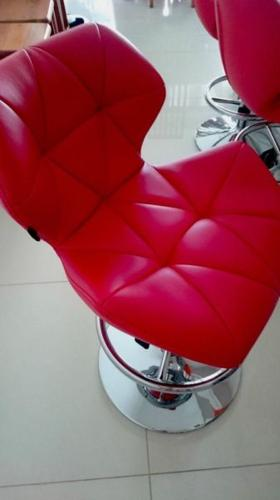 MONDI (Red) Leather Bar Chairs