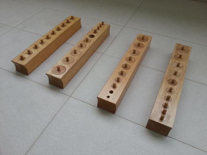 MONTESSORI Sensorial Knobbed Cylinders Set