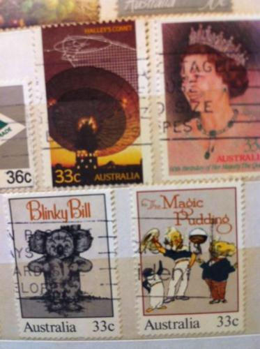 More than 1250 stamps from the 70s, 80s
