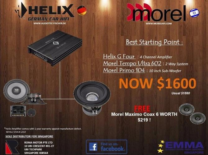 Morel Tempo Ultra 602 Component Speakers (With Amplifier & Subwoofer