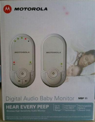 MOTOROLA DIGITAL AUDIO BABY MONITOR (MBP11) FOR SALE @