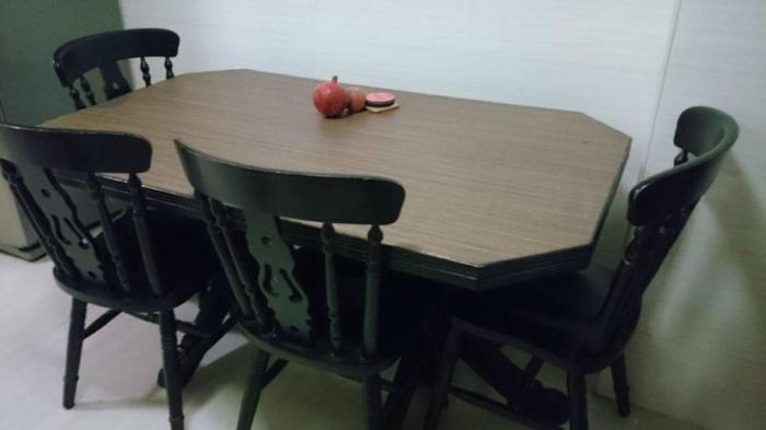 Moving Out Sale - Neat and Robust Dining Table with 4