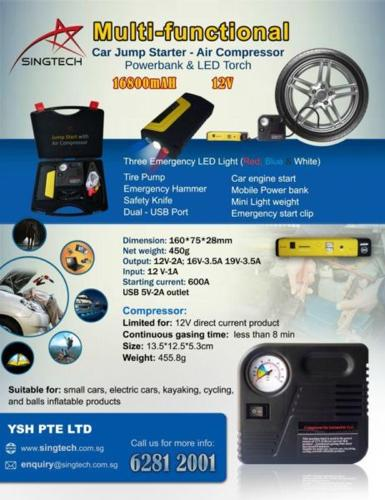 Multi-functional Car Jump Start with Air Compressor