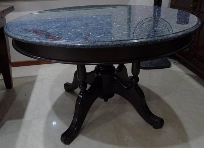 Natural Blue Pearl Granite Dining Table