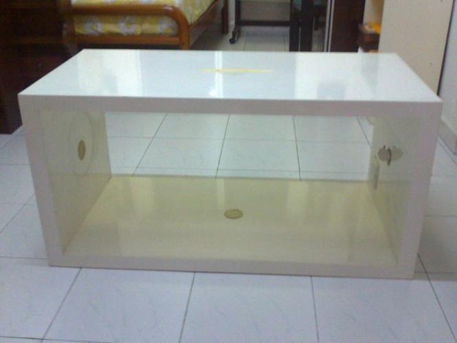 New Art Deco White Coffee Table / Pedestal - $600