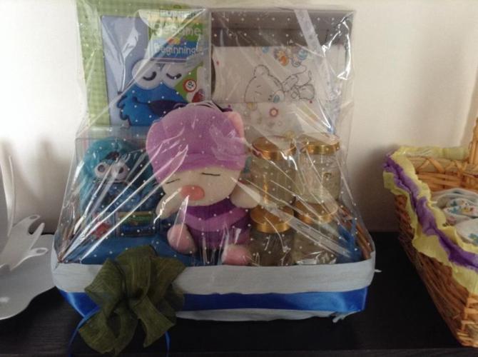 NEW hamper baby shower gift ( sesame street- boy)
