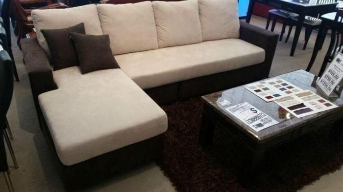 New L-shape, fabric sofa for sale at huge discount!!!