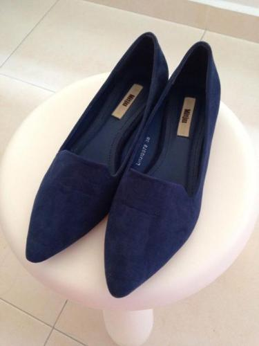 New Mitju blue suede loafers