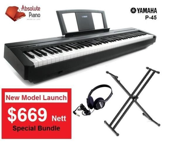 New Model! Yamaha P45 at special bundle price of $669
