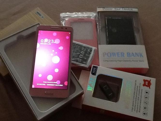 New N8000 5.5inch Quad Core Android Phone (Pink),