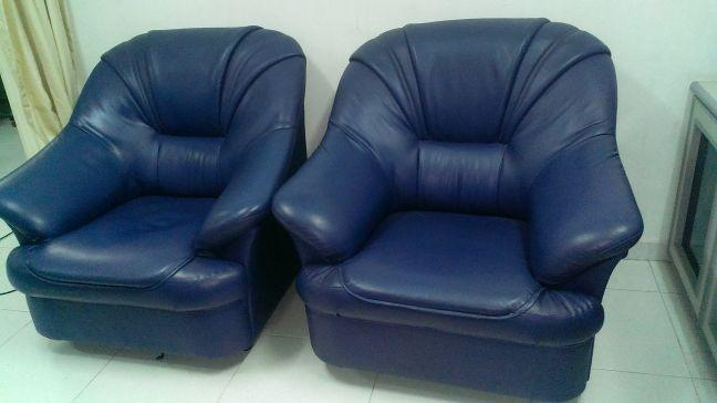 Nice blue 1+1 synthetic sofa for sale - 80$