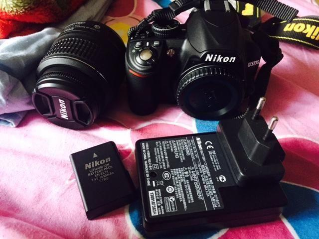 Nikon D3100- Full set+ One (55-200) lense+ 8 GB
