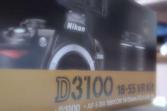 Nikon DSLR D3100 18-55mm VR kit in pristine condition