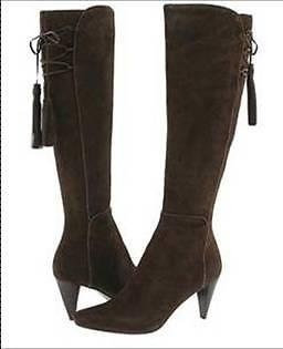 NINE WEST | Black Suede Leather Knee High Boots