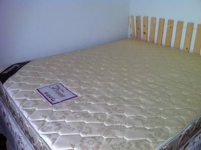 Novena Queen Size Mattress + Ikea bedside table