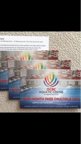 One Month Pass - OCBC Aquatic Center -staduim