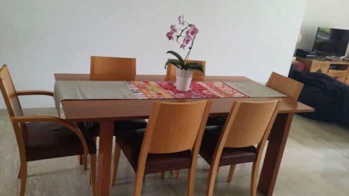 one piece solid scandinavian wood table