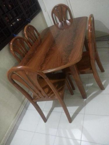 One Year Teak Wood Dining Table Set Sale 140 For Sale In Marsiling