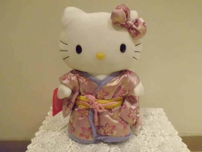 Original Hello Kitty in kimono plush toy (25cm in