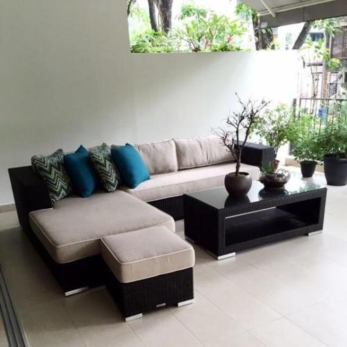 Outdoor furniture lounge set ( Torino, from Teak and