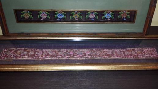 Peranakan Belts manek potong and tubular beads