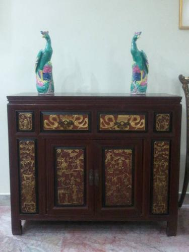 Peranakan straits chinese nonya sideboard table cabinet
