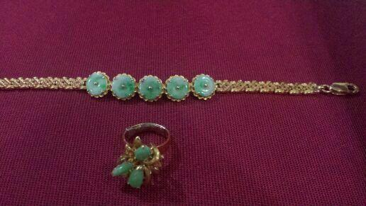 Peranakan Vintage 916 & Pound Gold Bracelet & Ring