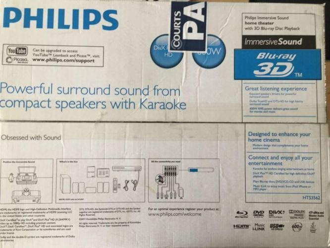 Philips Immersive Sound home theater with 3D Blue-ray