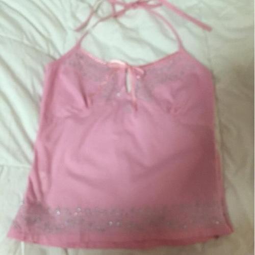 Pink Bare Back Top