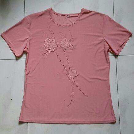 Pink Embossed blouse