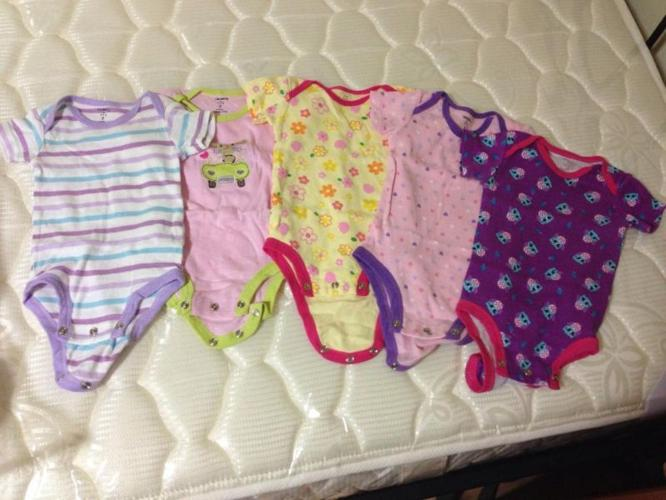 PL Carter's Baby Girl Rompers $10